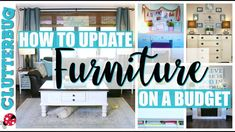 Decorating Tips- How to Update Furniture on a Budget Interior Paint Colors, Gray Interior, Home Interior, Interior Painting, Painting Furniture, Interior Design, Decorating Tips, Decorating Your Home, Diy Home Decor