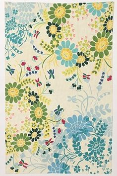 Pretty.  Floral Rug #anthrofave #juvenilehalldesign