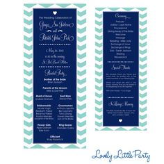 Simple Chevron Wedding Program DIY Printable  by lovelylittleparty, $25.00 @Ashley Barber
