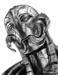 Drawing Marvel Ultron (Avengers - Age of Ultron) by on DeviantArt - Ultron Marvel, Age Of Ultron, Marvel Art, Marvel Dc Comics, Marvel Heroes, Iron Man Kunst, Iron Man Art, Comic Drawing, Cartoon Drawings