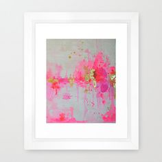 Pink and Gold Leaf Watercolor Abstract  with shades of lilac, coral, and white.