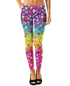 Now THESE I need!!! Lisa Frank Candies Leggings