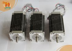 Ship From USA! Wantai 3PCS Nema23 Stepper Motor 57BYGH115-003 425oz-in 115mm 3A 4-Lead Single Shaft CE ROHS ISO CNC Router 3040
