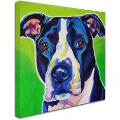 Trademark Fine Art Sadie Canvas Art by DawgArt, Size: 14 x 14, Multicolor