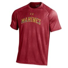 Show off your Marine Corps pride while sporting our Marines Under Armour® Chopped Block Tech T-shirt.