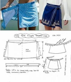 Enchanting Sewing Patterns Clone Your Clothes Ideas - Sewing Skirts Юбк. - Enchanting Sewing Patterns Clone Your Clothes Ideas – Sewing Skirts Юбка-конверт.Выкройка Source by roshanpourvesta – Source by romweus - Skirt Patterns Sewing, Clothing Patterns, Pattern Skirt, Wrap Skirt Patterns, Simple Skirt Pattern, Skirt Sewing, Pattern Sewing, Diy Clothing, Sewing Clothes