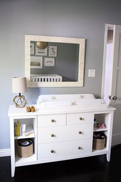 Land of Nod Blake Dresser - fresh take on a classic design. Clean lines and understated angles.