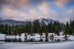 11 Gold Creek Pond Winter Skies (Washington) by Erwin Buske on 500px