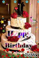 HAPPY BIRTHDAY - PicMix Happy Birthday Wishes Photos, Birthday Wishes Greetings, Happy Birthday Cake Images, Happy Birthday Flower, Shabbat Shalom Images, Good Morning Prayer, Vote Sticker, Beautiful Nature Wallpaper, Art Girl