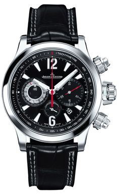 Jaeger-LeCoultre Master Compressor Chronograph Daddy like. Dream Watches, Sport Watches, Luxury Watches, Cool Watches, Watches For Men, Men's Watches, Wrist Watches, Mens Watches Leather, Leather Men