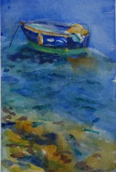 Watercolors by Celia Blanco: Peaceful Isolation