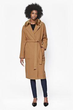 French Connection Camel Longline Imperial Wool Belted Maxi Wrap Coat 8 36 US 4 Maxi Coat, Stylish Coat, Coat Sale, Wrap Coat, Camel Coat, Lightweight Jacket, Autumn Winter Fashion, Winter Style, Mantel
