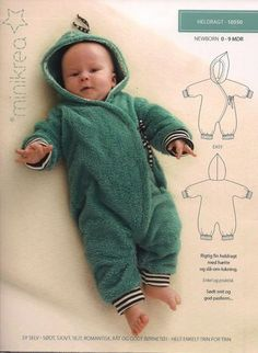 Patroon babypak van Minikra -bambiblauw