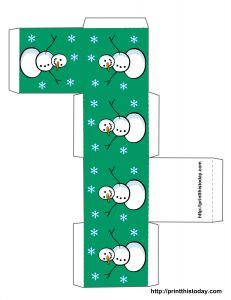 Free printable Christmas box template - Different Styles Available