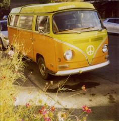 Yellow Volkswagon Bus. My dream car!!!!!! If only it was orange;)
