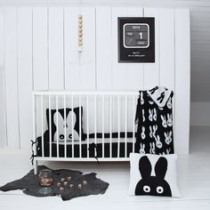 Black & White - bunny nursery