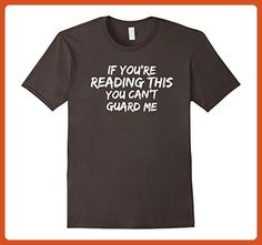 Mens Funny Basketball Quote If You're Reading This T-Shirt Large Asphalt - Sports shirts (*Partner-Link)