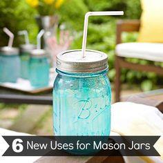 Mason jar straw glass.