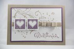 Hochzeitskarte ... Glückwunsch ... Einladung von Stempel:Zauber auf DaWanda.com