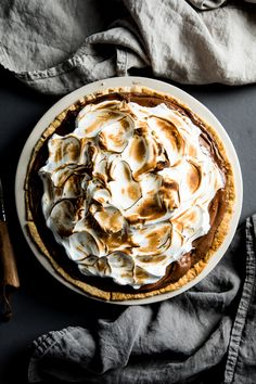 Flourishing Foodie: Chocolate Pie with Toasted Meringue