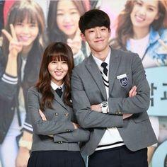 Nam Joo Hyuk and Kim So Hyun together in School 2015 Korean Actresses, Korean Actors, Actors & Actresses, Yook Sungjae, Btob, Drama Korea, Korean Drama, Who Are You School 2015, Nam Joohyuk