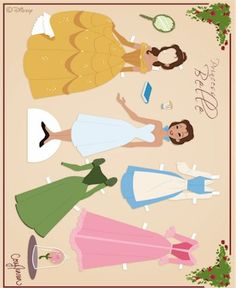 Beauty and the Beast Printable Paper Dolls and Cut Outs