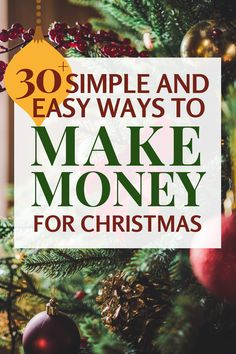 Want to make extra money before Christmas but don't know how? Here are 35 ways to earn extra money before the holidays with little to no skill. Make money online teens