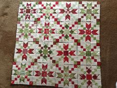 red & green country charmer quilt blocks