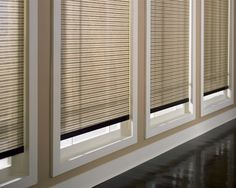 Hunter Douglas Designer shades. Horizontal stripes. Second bedroom?