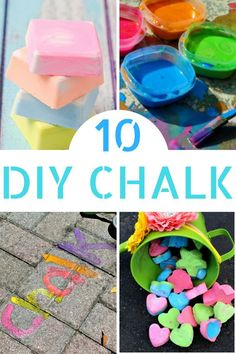 Do your kids want to decorate the pavement w/ their latest creations? Try our favorite DIY Sidewalk chalk recipes this summer for lots of family fun!