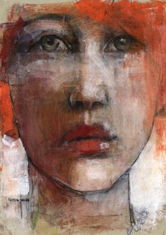 lips by derekjones on DeviantArt Abstract Faces, Abstract Portrait, Portrait Art, Oil Pastel Art, Pastel Portraits, Found Art, Expressive Art, People Art, Life Drawing