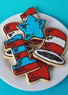 Cat's hat from cat in the hat cookies