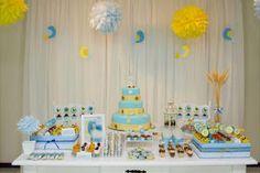 Festa amarelo e azul
