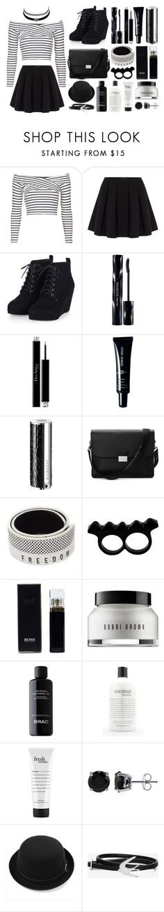 """""""Black Choker // Sapphire"""" by flower-crown-gurls ❤ liked on Polyvore featuring Topshop, Charlotte Russe, Polo Ralph Lauren, Shiseido, Christian Dior, Giorgio Armani, Givenchy, Aspinal of London, Kenzo and L'Artisan Créateur"""