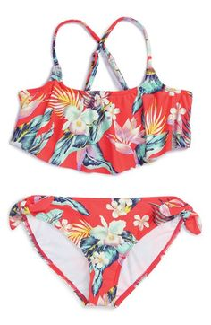 Billabong 'Aloha' Two-Piece Swimsuit (Little Girls & Big Girls)