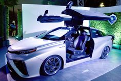 Toyota celebrates Back to the Future with their first Mirai hydrogen fuel cell vehicles.