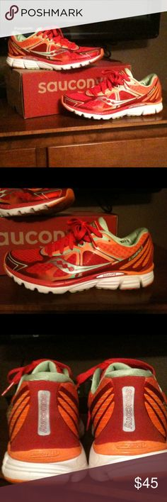 Saucony Kinvara 6 Women's Saucony Kinvara 6 model. Red/orange colors. In great condition. Original box included. Saucony Shoes