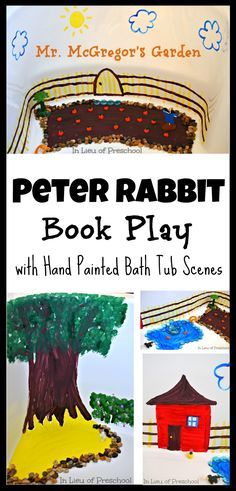 peter rabbit small world book play #handpainted #bath #kids #smallworld #craft #play #preschool #child #elementary #toddlers #reading #literacy #activity