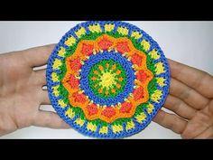 Круглый цветной мотив крючком - Мастер-класс пошаговый - YouTube Beach Mat, Mandala, Outdoor Blanket, Crochet, Google, Youtube, Scrappy Quilts, Knit Crochet, Crocheting