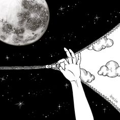 "3,856 Likes, 61 Comments - Henn Kim (헨 킴) (@henn_kim) on Instagram: ""good night  . . . #goodnight #zip #moon"""