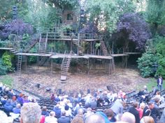 set for Into the Woods in Regent's Park.