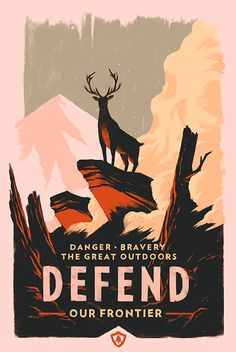 Firewatch - Absolutely LOVE this piece. It makes me want to create something like it in this style.