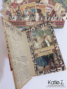 A Good Ol' Sport Briefcase #graphic45 #clearscraps #goodolsport #alteredalbum #briefcase