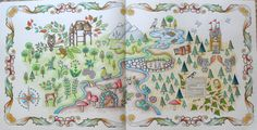 Enchanted Forest coloring book map - Google Search