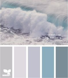 delphiniuims, tweedia, silver foliage, maybe some whites -  this would be a lovely palette.  Would also look good with against black. by Selkie~gal