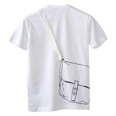 Tシャツ 「カバン」| 遊べるアートTシャツ [シキサイ]