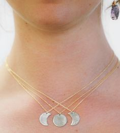 Moon Phase Friendship Necklace by Amy Waltz Designs on Scoutmob