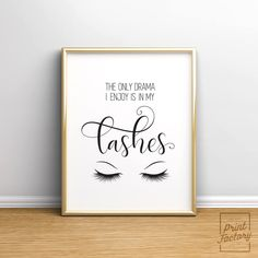 Makeup Print, Lashes Printable, Fashion Print, Fashion Sign, Bedroom Wall Decor, Bedroom Wall Art, Eyelash Print, Girl Print, Beauty Print by WallPrintFactory on Etsy