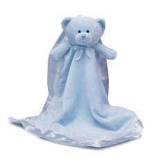The sweetest baby boy gift This cute baby bear comes with an attached blanket in soft velour. This soft blanket will surely be your baby's favorite cuddle item. Great gift for a new baby boy and perfect for a baby shower gift