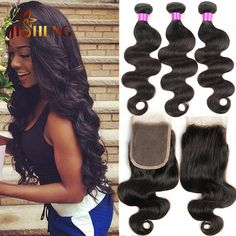 #1B, natural color, body wave with closure, you are the new princess, the best gifts you cannot wait.